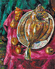 Still Life, Plaice & Onions 1954