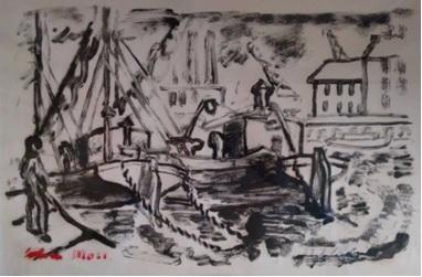 Colin Moss - Ipswich docks